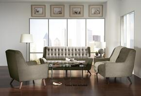 Natalia 503771SLC 3 PC Living Room Set with Sofa + Loveseat + Chair in Dove Grey Color