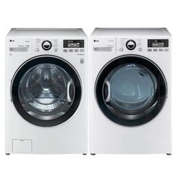 WM3470HWA-DLEX3470W-PAIR White Laundry Kit with TurboWash Series 27