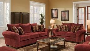 1837033952SL Clearlake Sofa + Loveseat with 16 Gauge Border Wire, Palmero Mosaic Toss Pillows, Kiln Dried Hardwood Frames and Hi-Density Foam Core Cushions in Masterpiece Burgundy