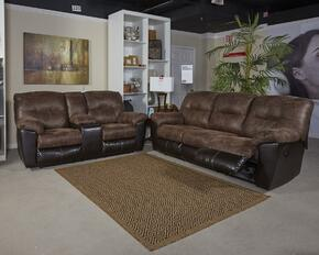 Follett 6520288SL 2 PC Living Room Set with Reclining Sofa + Reclining Loveseat in Chocolate Color