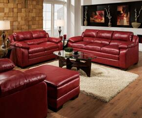 Jeremy 50595SLCO 4 PC Living Room Set with Sofa + Loveseat + Chair + Ottoman in Soho Cardinal Finish