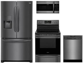 Gallery 4-Piece Black Stainless Steel Kitchen FGHF2367TD 36