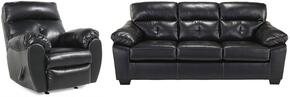 Bastrop Collection 44601SR 2-Piece Living Room Set with Sofa and Recliner in Midnight