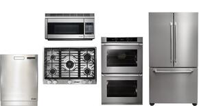 "Dacor 5 Piece Stainless Steel Kitchen Package With RNCT305GSNG  30"" Gas Cooktop, PCOR30S 30"" Countertop Microwave, DTF36FCS 36"" French Door Refrigerator, RNO230S208V 30"" Electric Wall Oven and DDW24S 24"" Built In Dishwasher"