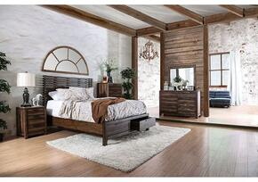 Hankinson Collection CM7576QSBDMCN 5-Piece Bedroom Set with Queen Storage Bed, Dresser, Mirror, Chest and Nightstand in Rustic Natural Tone Finish