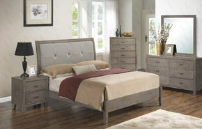 G1205ATBDMN 4 Piece Set including Twin Bed, Dresser, Mirror and Nightstand  in Grey