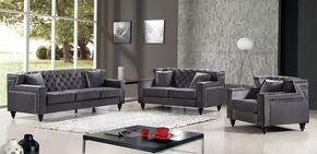 Harley Collection 739440 3-Piece Living Room Sets with Stationary Sofa, Loveseat and Living Room Chair in Grey