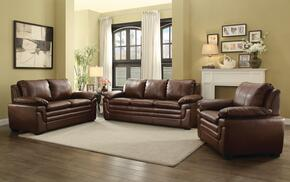 G280SET 3 PC Living Room Set with Sofa + Loveseat + Armchair in Brown Color