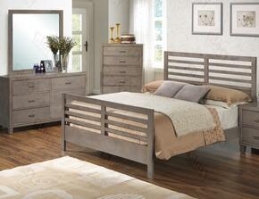G1205CTB2DM 3 Piece Set including Twin Bed, Dresser and Mirror in Gray