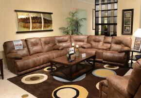 Voyager Collection 4381-1228-29/3028-29SEC 4 PC Sectional Sofa Set with Lay Flat Reclining Sofa + Loveseat + Wedge + Recliner in Elk Color