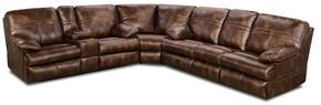 Miracle Saddle 50981-0763103 3 Piece Set including  Bonded Leather Wedge, Loveseat and Sofa  with Stitched Detailing in Brown