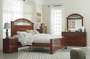 Fairbrooks Estate Queen Bedroom Set with Panel Bed, Dresser, Mirror and Chest in Cherry