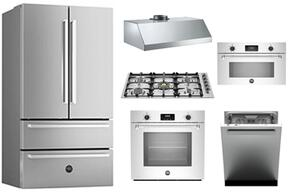 "6-Piece Kitchen Package with REF36X 36"" French Door Refrigerator, QB36M500X 36"" Gas Cooktop, MASFS30XV 30"" Electric Single Oven, MASSO30X 30"" Speed Oven, KU36PRO1XV 36"" Hood and DW24XV Built In Dishwasher in Stainless Steel"