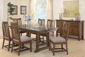 "Willowbrook 106981 40"" Rustic Industrial Dining Table and 4 Dining Chairs"