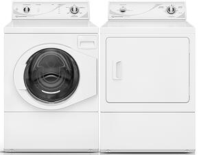 "White Front Load Laundry Pair with AFN50RSP 27"" Washer and ADE3SRGS 27"" Electric Dryer"
