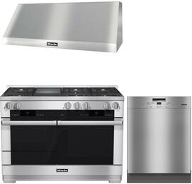 3-Piece Stainless Steel Kitchen Package with HR1956DFGD 48