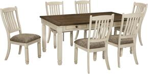 Bolanburg Collection 7-Piece Dining Room Set with Dining Room Table and 6 Side Chairs in Two-Tone