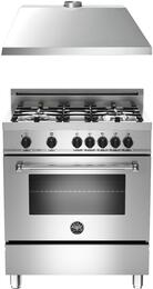 "2-Piece Stainless Steel Kitchen Package with MAS304DFMXE 30"" Natural Gas Dual-Fuel Range and KU30PRO1XV 30"" 400 CFM Range Hood"