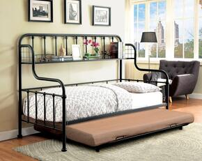 Carlow Collection CM1611BT 2 PC Daybed Set with Twin Size Daybed + Trundle in Black Finish