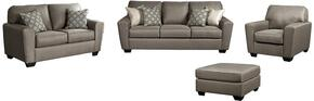 Calicho Collection 91202QSSLC08 4-Piece Living Room Set with Queen Sofa Sleeper, Loveseat, Chair and Oversized Accent Ottoman in Cashmere
