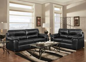 194903TBSL Dorchester Sofa + Loveseat with 16 Gauge Wire, Sinuous Springs, Hi-Density Foam Core Cushions and Kiln Dried Hardwood Frames in Taos Black