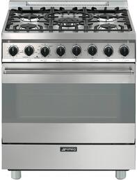 smeg c30ggxu1 30 inch gas range with 5 burners sealed cooktop