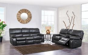 U0040RSCRLS 2-Piece Living Room Set with Reclining Sofa and Reclining Loveseat in Grey and Black
