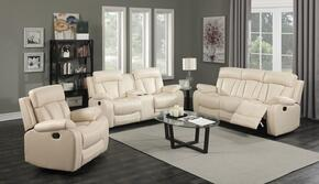 Avery 645-BE-S-L-C 3 Piece Living Room Set with Reclining Sofa + Reclining Loveseat and Reclining Chair in Beige