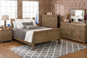 Slater Mill Collection 943QSBDMN 4-Piece Bedroom Set with Queen Bed, Dresser, Mirror and Nightstand in Medium Brown