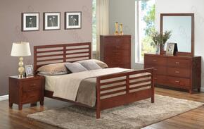G1200CTB2DMN 4 Piece Set includingTwin  Bed, Dresser, Mirror and Nightstand in Cherry