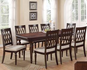 Sophia SOPTAB6CHR Dining Set Including Dining Table and 6 Chairs with Carved Detailing and Turned Legs