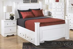 Weeki Collection B270SIG2PCKPS2DNKIT1 2-Piece Bedroom Sets with King Poster Bed, and Nightstand in White