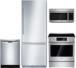 Bosch 696195 4 Piece Stainless Steel Kitchen Appliances Package