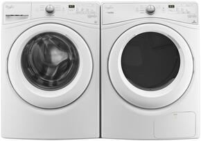 White Front Load Laundry Pair with WFW7590FW 27