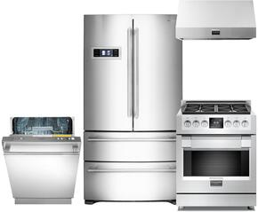 600 Series 4-Piece Stainless Steel Kitchen Package with FM36CDFDS1 36