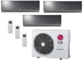 LMU24CHVPACKAGE8 Triple Zone Mini Split Air Conditioner System with 33000 BTU Cooling Capacity, 3 Indoor Units, and Outdoor Unit