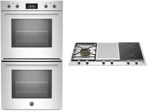 "Professional 2-Piece Stainless Steel Kitchen Package with PROFD30XT 30"" Double Wall Oven and PM361IGX 36"" Gas Cooktop"