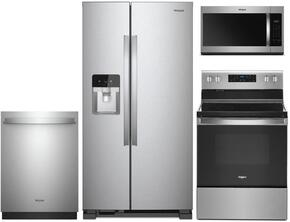 Whirlpool 930179 4 Piece Fingerprint Resistant Stainless Steel Kitchen Appliances Package