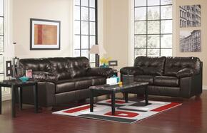 Alliston DuraBlend 20101SL3TR2LTA 13-Piece Living Room Set with Sofa, Loveseat, 3PC Table Set, Rug, 2 Lamps and 5PC Table Accessories in Chocolate