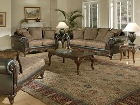 6768511-SL Serta Ronalynn 2 Piece Livingroom Set, Sofa + Loveseat, Upholstered in San Marino Chocolate Poly Cotton Blend