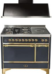 2-Piece Matte Graphite Kitchen Package with UMC120SDMPM 48