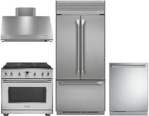 4-Piece Professional Stainless Steel Kitchen Package with ZIPP360NHSS 36
