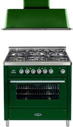 2-Piece Emerald Green Kitchen Package with UMT906DVGGVS 36