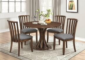 Prescott Collection 107401TC 5 PC Dining Room Set with Dining Table + 4 Side Chairs in Vintage Cinnamon Finish