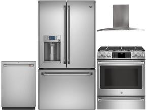 4-Piece Stainless Steel Kitchen Package with CFE28TSHSS 36