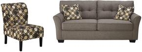 Tibbee Collection 99101SAC 2-Piece Living Room Set with Sofa and Accent Chair in Slate