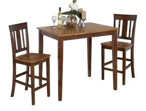 875-30SET3 Kura Espresso/Canyon Gold Counter Height Table with 3 Counter Height Stools