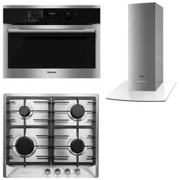 3-Piece Stainless Steel Kitchen Package with H6100BM 24