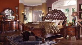 Vendome Collection 22000Q5PCSET Queen Size Bed + Dresser + Mirror + Chest + Nightstand in Cherry Finish