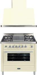 2-Piece Antique White Kitchen Package with UMT90FDMPA 36